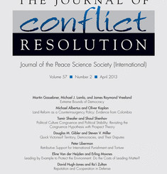 The Journal of Conflict Resolution.