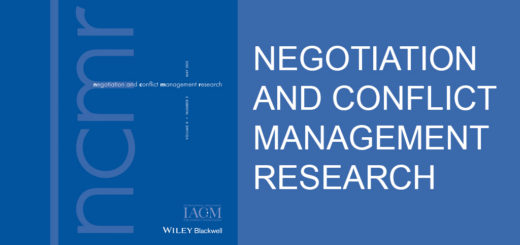 Negotiation and Conflict Management Research