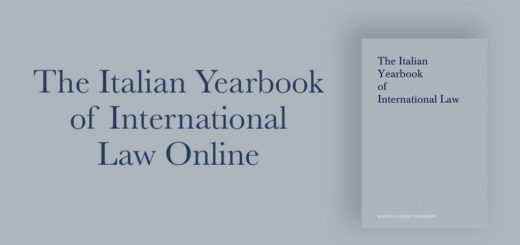 The Italian Yearbook of International Law Online