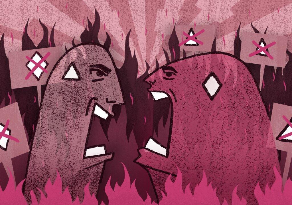 Reciprocal Radicalisation pink