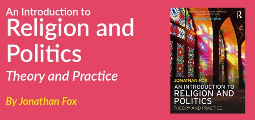 An Introduction to Religion and Politics Theory and Practice By Jonathan Fox