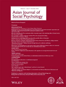 Asian Journal of Social Psychology